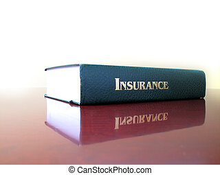 Law Book on Insurance - Old leather law book on the topic of...