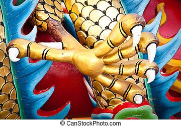 chinese dragon foot - detail of chinese dragon foot from a...
