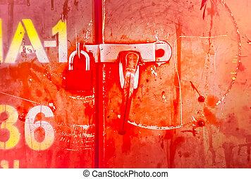 old grunge metal door