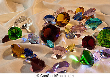 Collection of glass gems