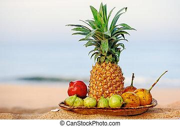 Fruit on the beach