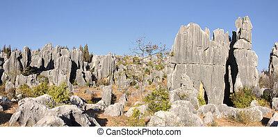 shilin stone forest near kunming yunnan china