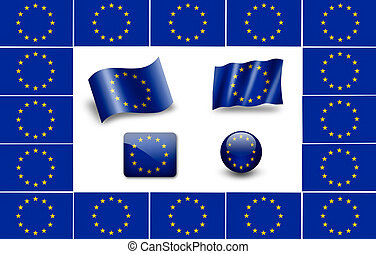 jogo, bandeira, bandeira, europeu, Europa, ícone