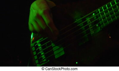 Rock n Roll bass - This is a close up of a rock and role...