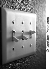 Light Switch - Light switch on wall inside a home