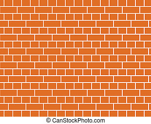 vector brick wall - vector of a red brick wall background