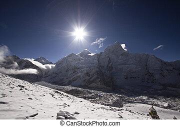 sunrise at mount everest nepal