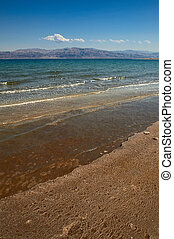 Mineral salts on coast of the Dead Sea,