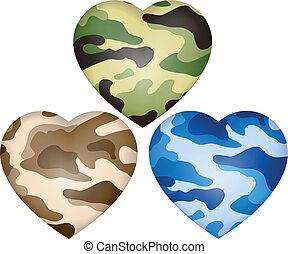 Heart camouflage.Vector