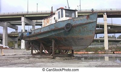 Dry dock.