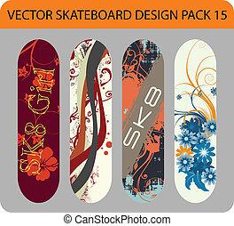 Skateboard design pack 15
