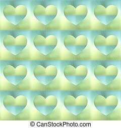 holographic hearts seamless background