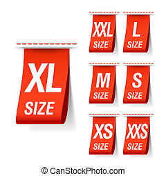 Size clothing labels vector illustration