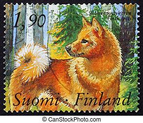 Postage stamp Finland 1989 Finnish Spitz Dog - FINLAND -...