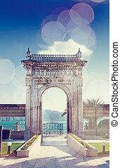 Ciragan Palace Gate - The historical sea gate of the Ciragan...
