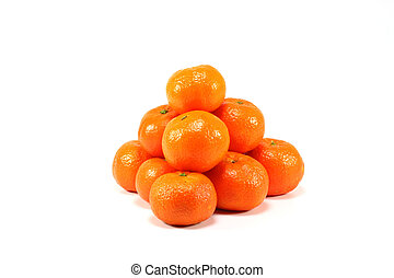 naranja, tetraedro