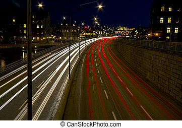 City traffic at night.