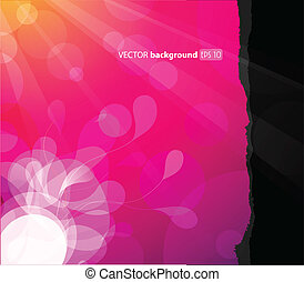 Abstract background with flower in the corner.
