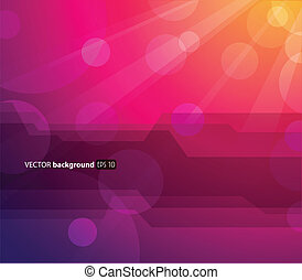 Abstract colorful background with sun and place for your...