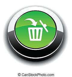 Delete 3d round button - Delete metallic 3d vibrant round...