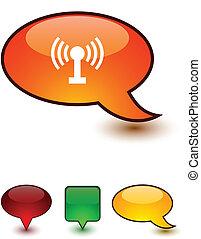 Radio speech comic icons.