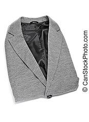 suit jacket - folded suit jacket on a white background