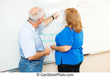 Adult Education - Teaching Math - Adult education student...