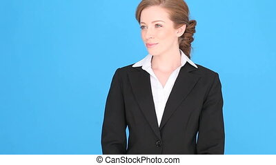 Smiling Confident Bussinesswoman - Smiling confident...