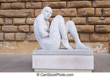 """In-Cinta"" - Statue ""In-Cinta"" of artist Rabarama in front..."