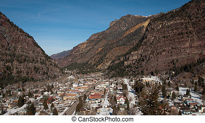Ouray - The town of Ouray in the beautiful Rocky Mountains...