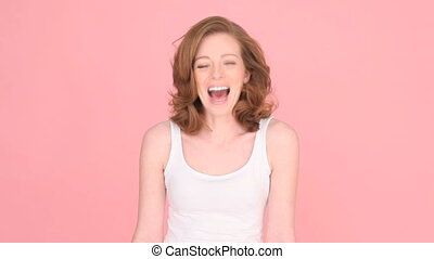 Laughing Woman Having Fun