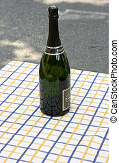 Sparkling wine - A Sparkling wine on the table