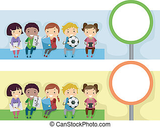 Education Header - Header Illustration with an Educational...