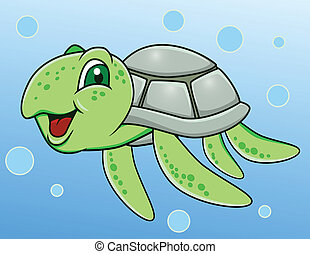 Turtle cartoon - Vector illustration of turtle cartoon