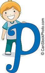 Letter Kid P