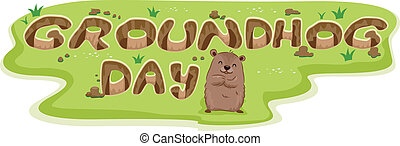 Groundhog Burrow - Illustration of Burrows Forming the Word...