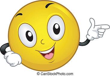 Elbow Bump - Illustration of a Smiley Doing an Elbow Bump