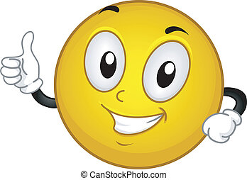 Okay Smiley - Illustration of a Smiley Giving a Thumbs Up