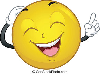 Laughing Smiley - Illustration of a Laughing Smiley