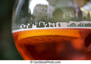 Spritz, glass with italian drink