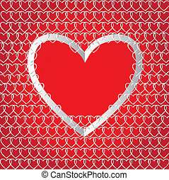 Chains of paper hearts Creative design for Valentine`s day