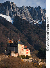 Mountain Landscape Castle V - The picturesque fairy tale,...