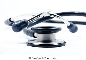 stehoscope - black stethoscope on white background