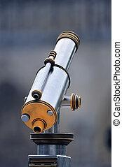 Tourist Telescope - An tourist type telescope on the blur...