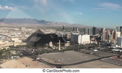 Helicopter Over Vegas - Helicopter flying over Las Vegas