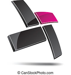 Abstract symbol. - Abstract design element. Vector...