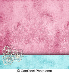 spring background with copy space - rough background pink...