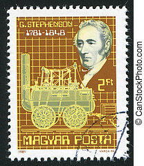 locomotive - HUNGARY - CIRCA 1981: stamp printed by Hungary,...