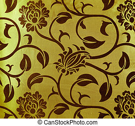 flower fabric texture, decorative colored canvas