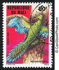 Prehistoric Animal - MALI CIRCA 1984: stamp printed by Mali,...